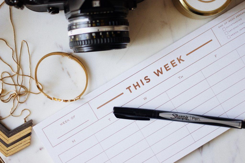 weekly work plan